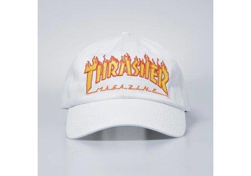 Thrasher Thrasher Flame Old Timer Hat White