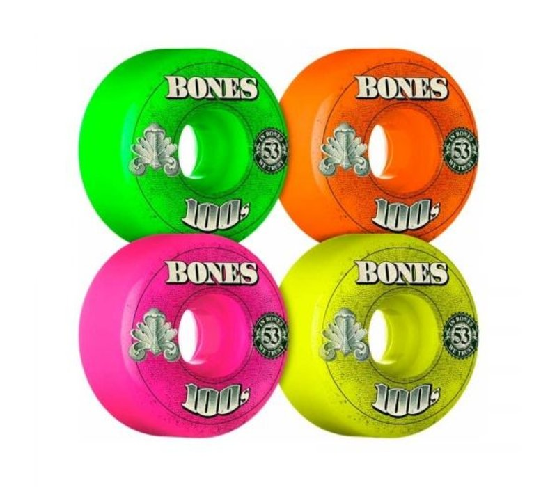 Bones Wheels - V1 100's OG Formula Party Pack 53mm