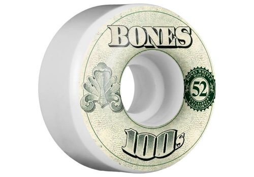 Bones Bones Wheels - V4 100's OG Formula White 52mm