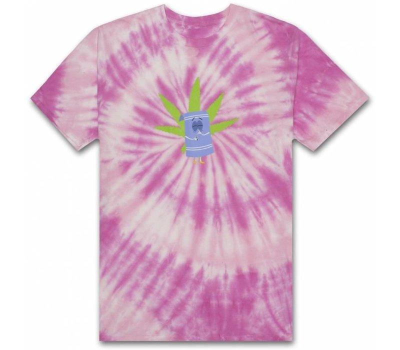 HUF X South Park Towelie Tie Die Tee Pink