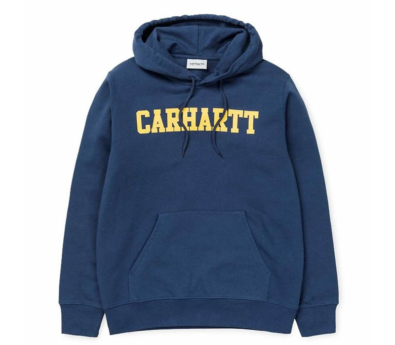 Carhartt Hooded College Sweat Blue/Yellow