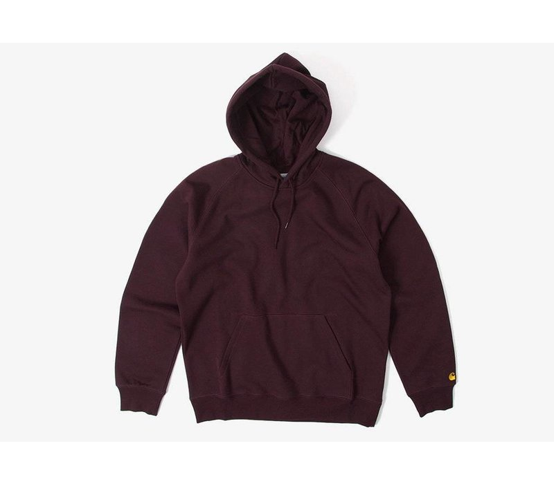 Carhartt Hooded Chase Sweat Damson/Gold