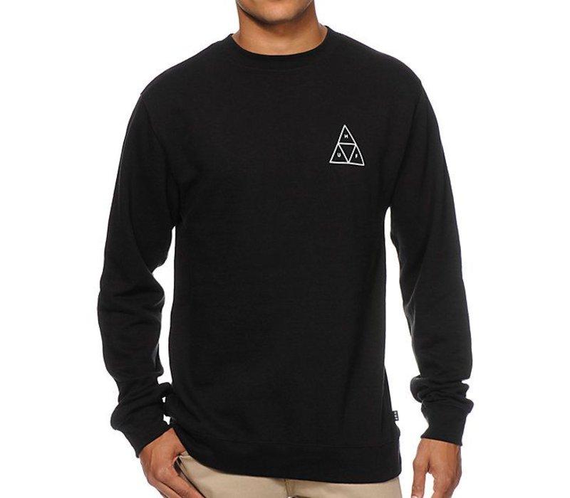 Huf Triple Triangle Crewneck Black