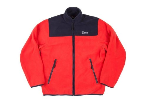 Dime Dime Polar Fleece Jacket Coral/Navy