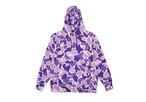 Ripndip RipNDip Nermal Camo Hoodie Purple