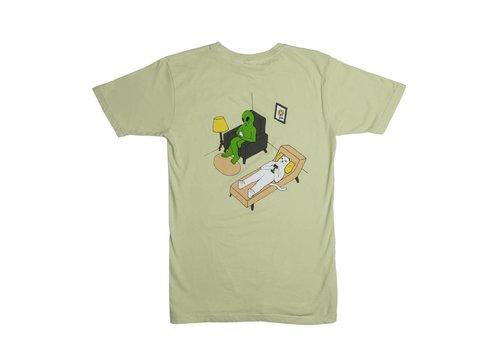 Ripndip RipNDip Therapy T Shirt Sage Green