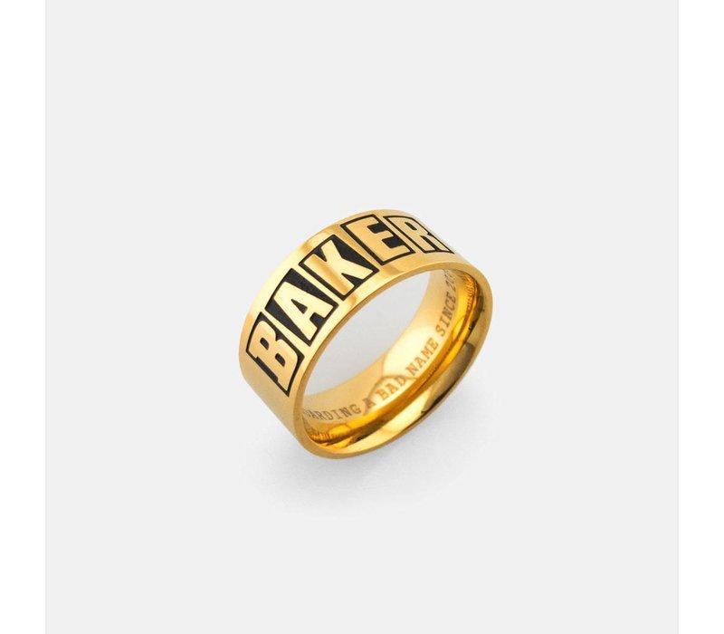Baker Brand Ring Gold