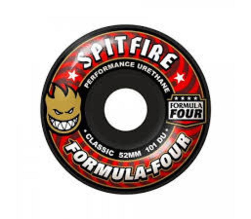 Spitfire Wheels - F4 Classic Black 53mm
