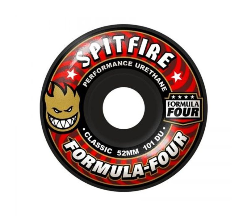 Spitfire Wheels - F4 Classic Black 52mm