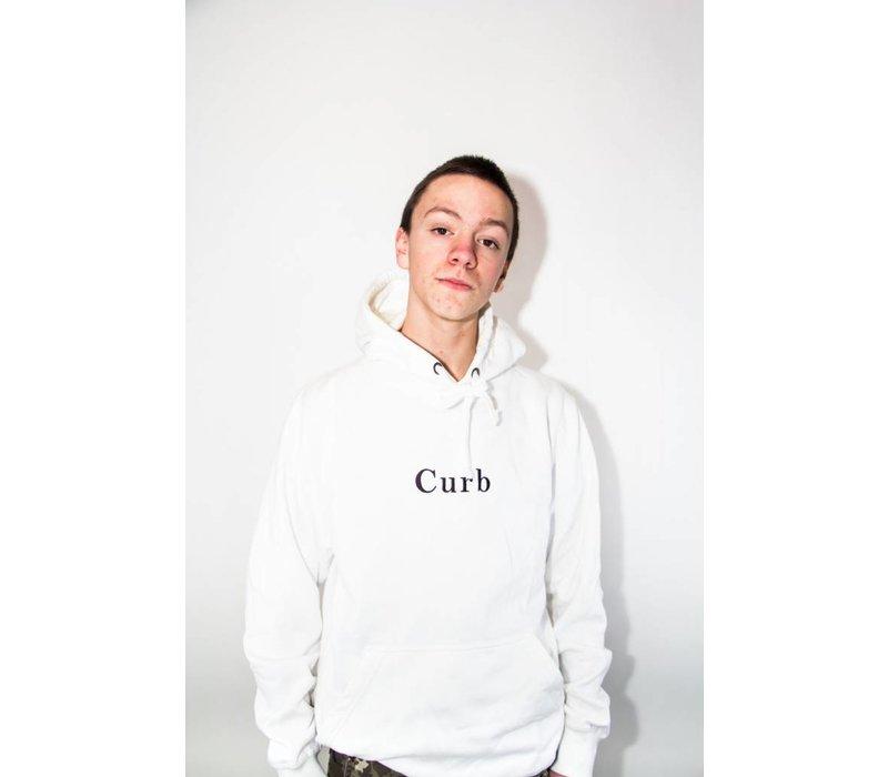 Curb Gang Logo Hood White