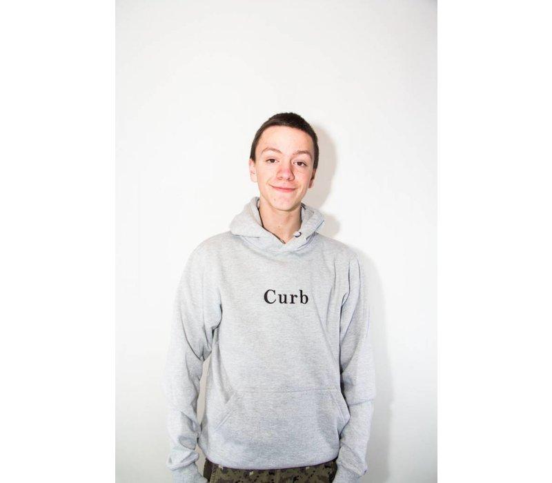Curb Gang Logo Hood Grey