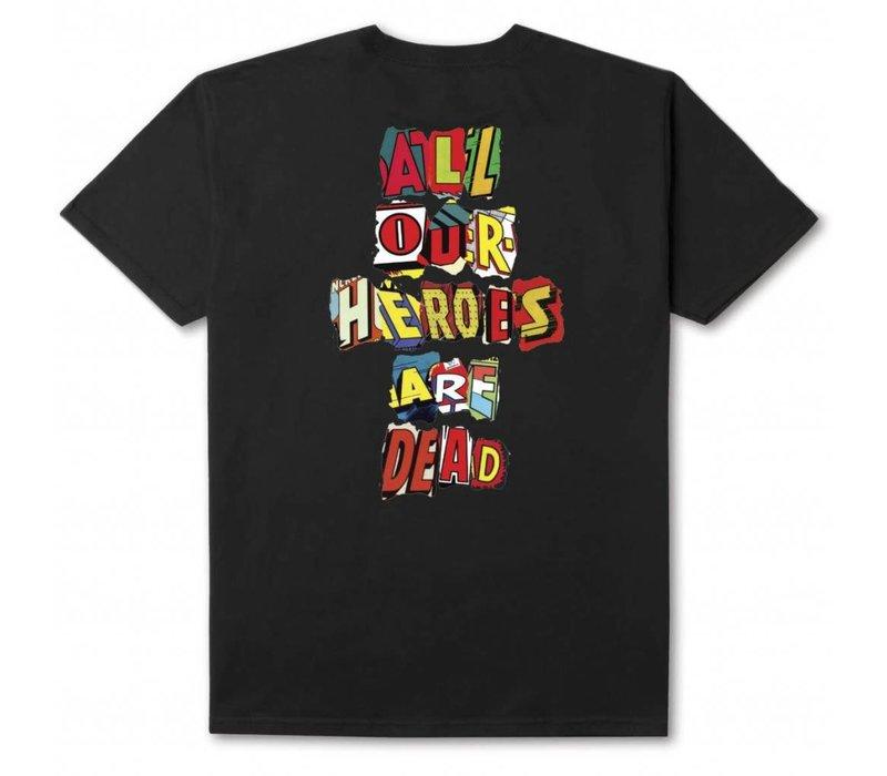 Huf Our Heroes Tee Black