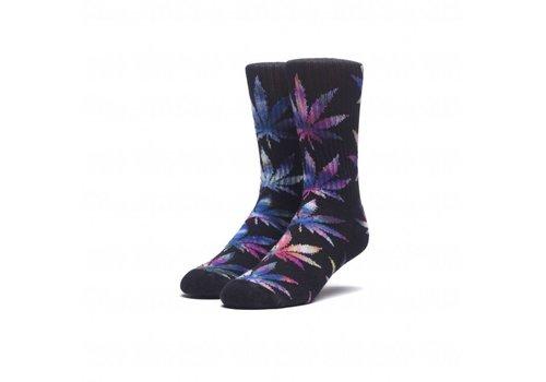 HUF Huf TieDye Leaves Plantlife Socks Black