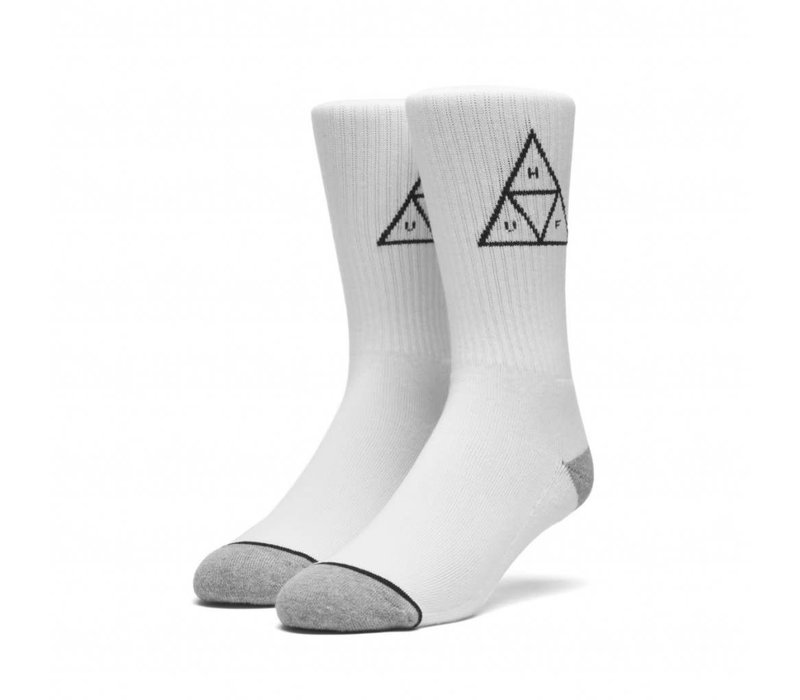 Huf Triple Triangle Crew Sock White