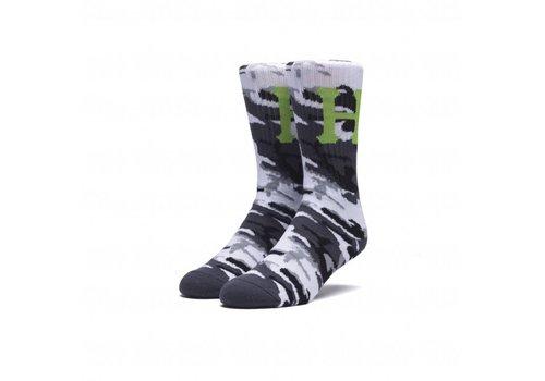 2dfbea8f53904 Huf Camo Classic H Crew Sock White
