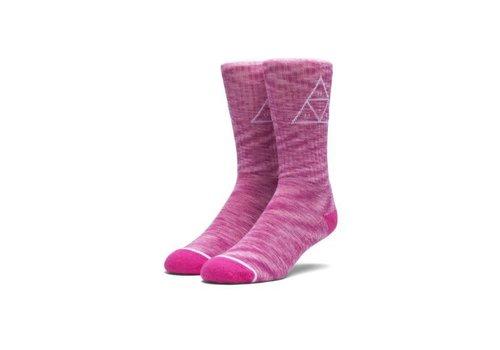 HUF Huf Melange Triple Triangle Socks Pink