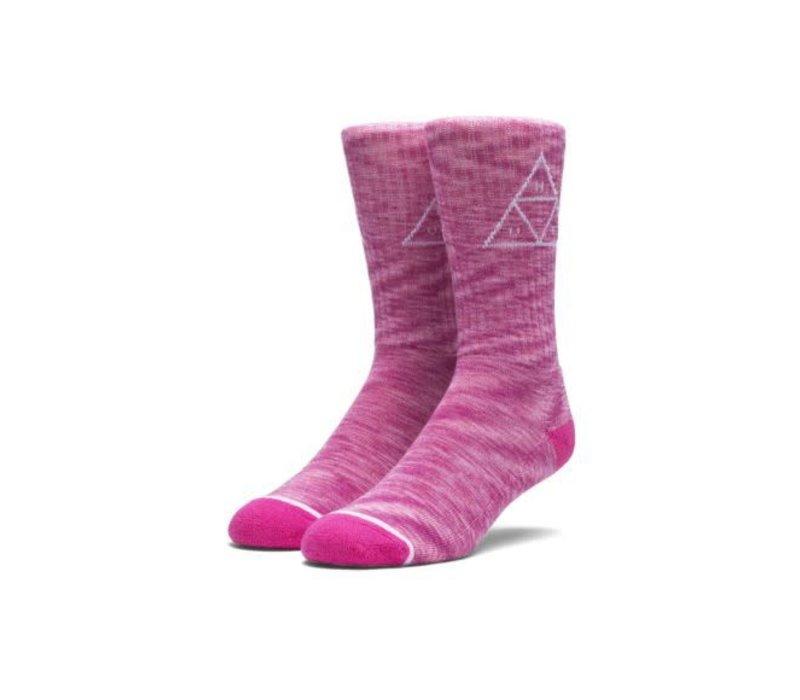 Huf Melange Triple Triangle Socks Pink