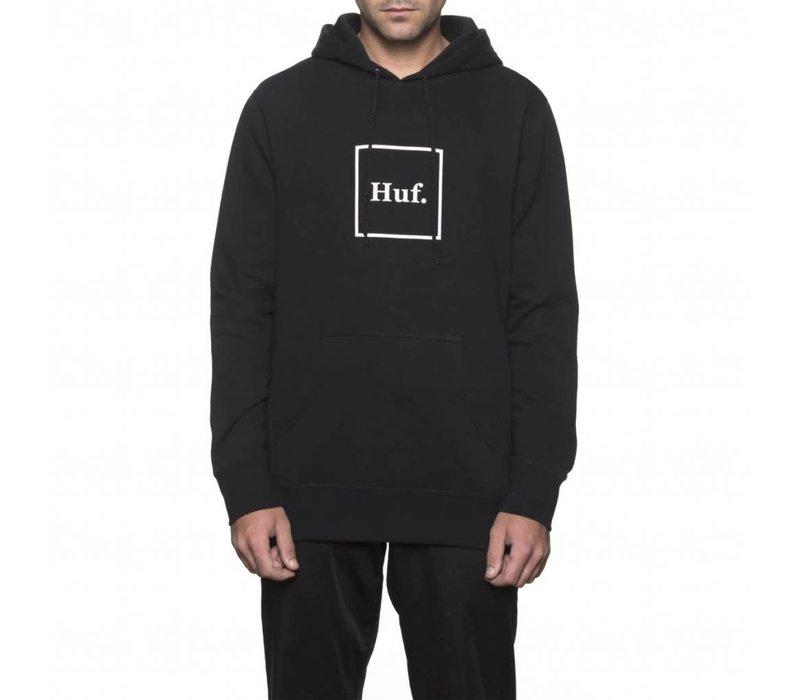 Huf Box Logo Hood Black