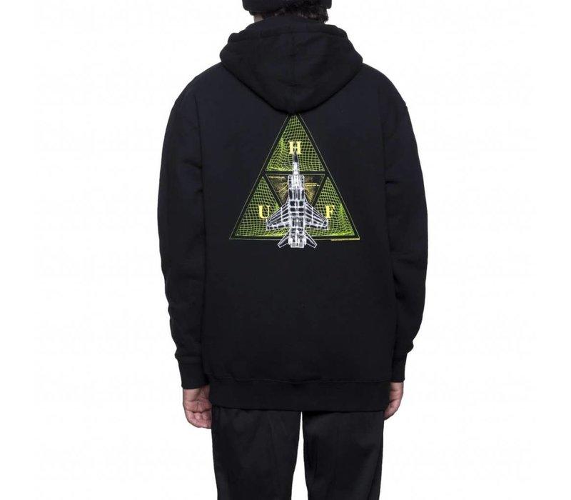 Huf Disaster Ops Triangle Zip Hoodie Black