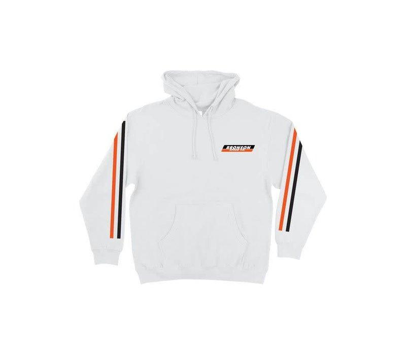 Bronson PO Hood Racing Stripes White