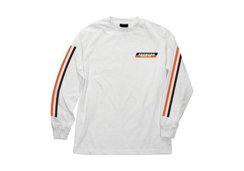 Bronson Speed Co. Bronson Racing Stripes L/S White