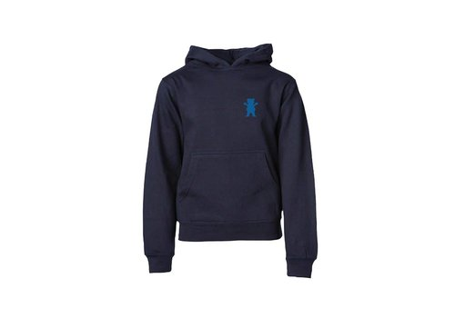 Grizzly Grizzly Views From The Bu Youth Hoodie Navy