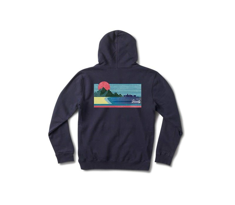 Grizzly Views From The Bu Youth Hoodie Navy
