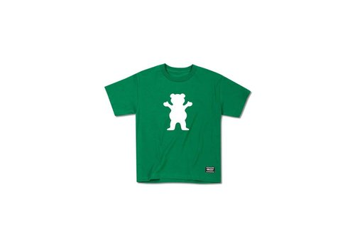 Grizzly Grizzly OG Bear Youth Tee Kelly Green