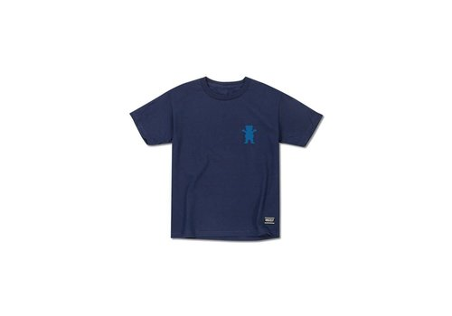 Grizzly Grizzly Views From The Bu Youth Tee Navy