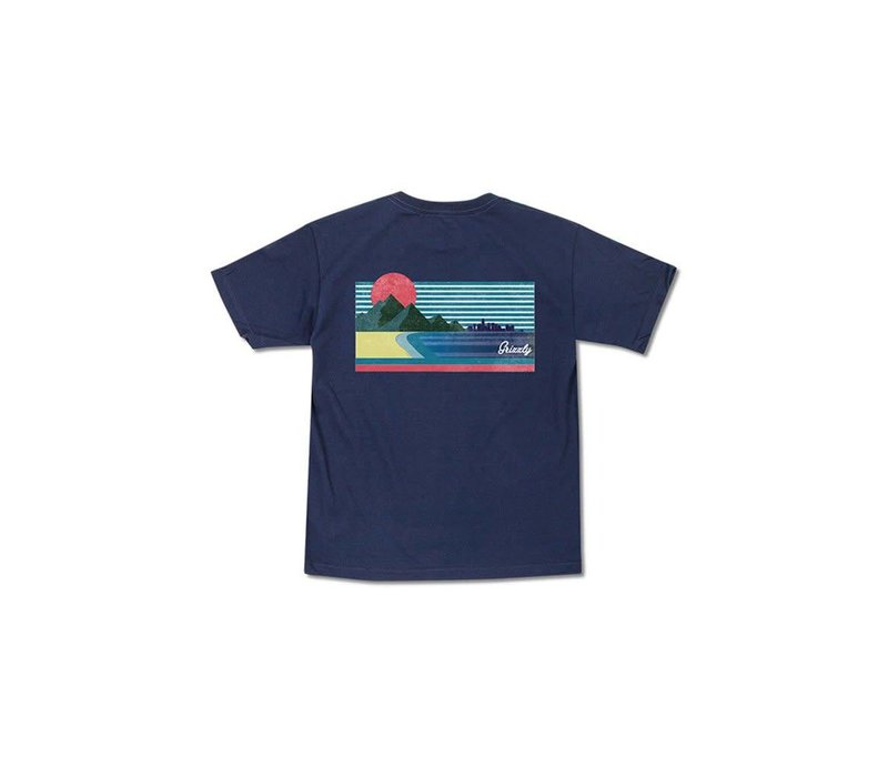 Grizzly Views From The Bu Youth Tee Navy