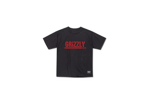 Grizzly Grizzly Stamp Youth Tee Black/Red