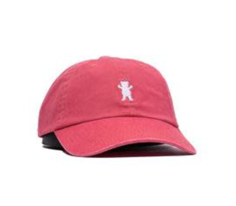 Grizzly OG Bear Dad Hat Coral/White