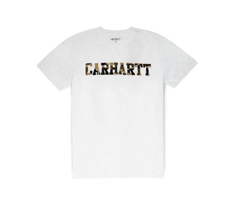 Carhartt College T-Shirt White/ Camo Tiger