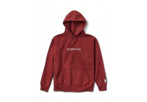 Numbers Numbers Embroidered Wordmark Hoodie Burnt Red