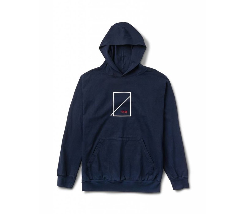Numbers Symbol Hooded Jersey Navy