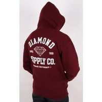 Diamond Athletic Hoodie Burgundy
