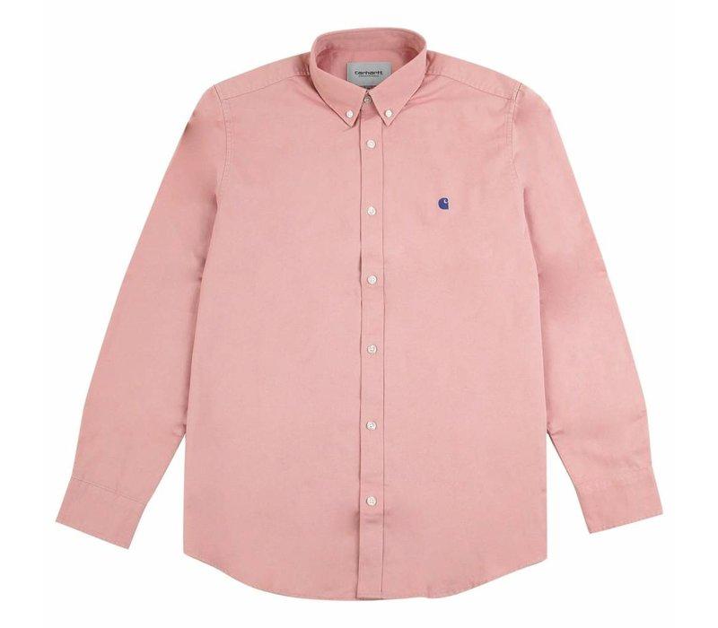 Carhartt LS Madison Shirt Soft Rose/Sapphire
