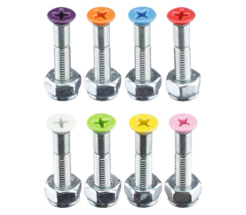 Shorty's Color Hardware Surf Pink 1 Inch (8 Bolts)