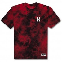 Huf Felix Classic H Wash Tee Red