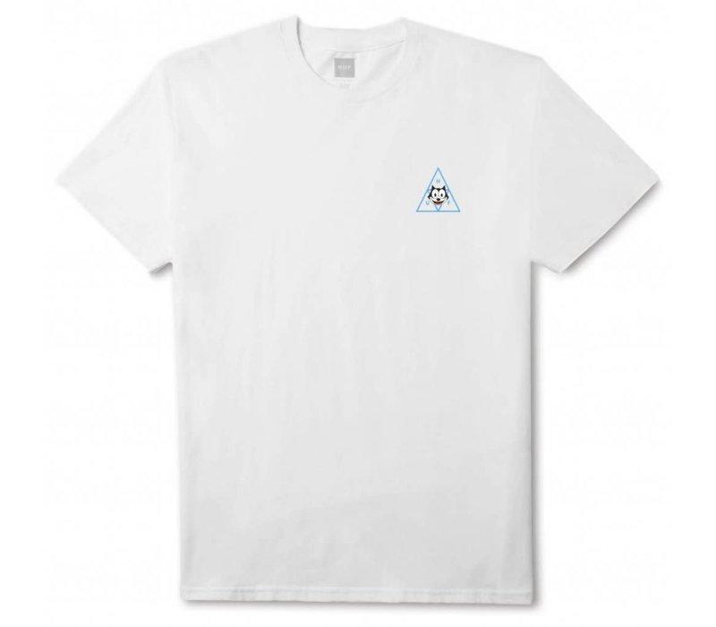 Huf Felix Triple Triangle Tee white