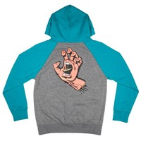 Santa Cruz Youth Screaming Hand Hood Lake Blue