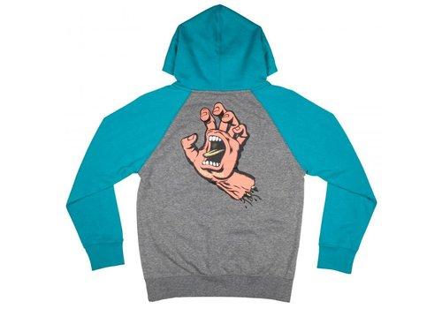 Santa Cruz Santa Cruz Youth Screaming Hand Hood Lake Blue