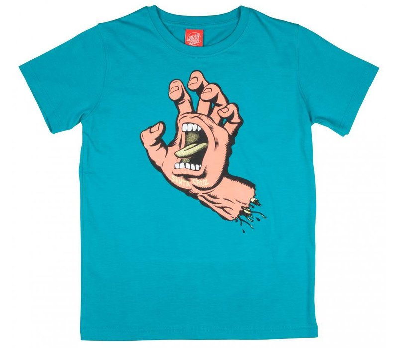 Santa Cruz Youth Screaming Hand Tee Lake Blue