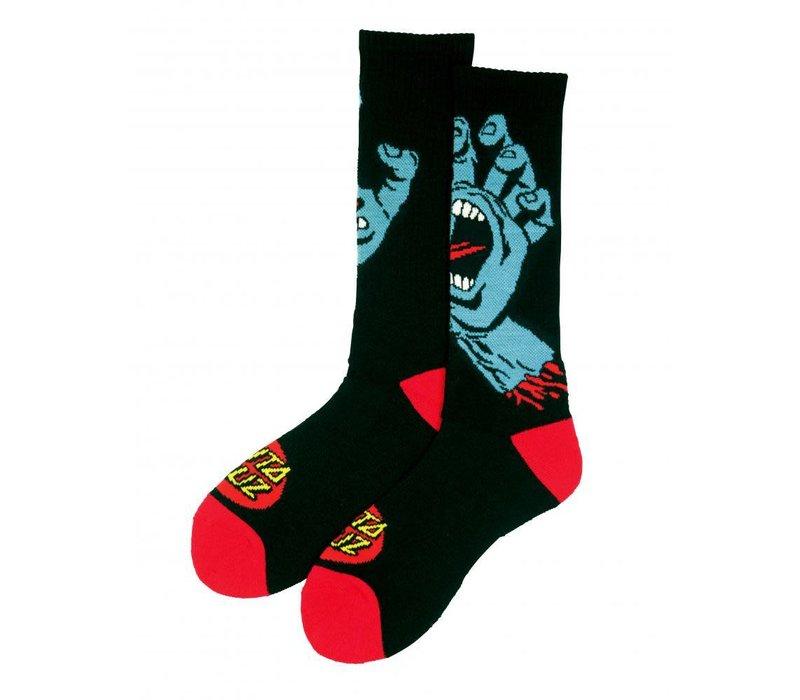 Santa Cruz Screaming Hand Sock Black
