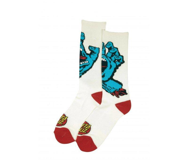 Santa Cruz Screaming Hand Sock White
