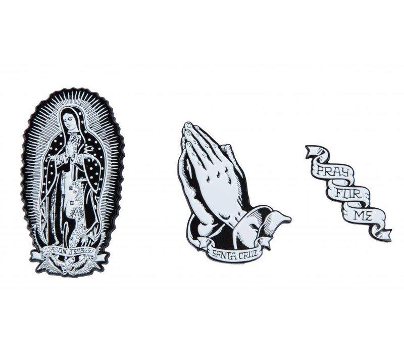 Santa Cruz Guadalupe Pin Set