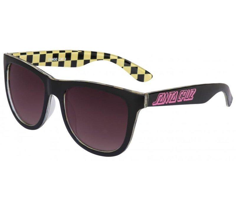 Santa Cruz Classic Check Sunglasses Black/Yellow