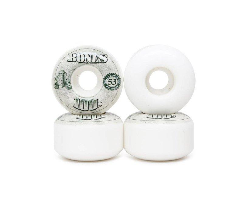 Bones Wheels - V4 100's OG Formula White 53mm