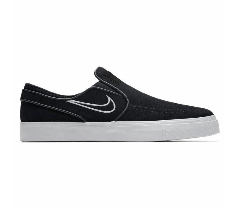 Nike Zoom Janoski Slip On Black/Light Bone/White