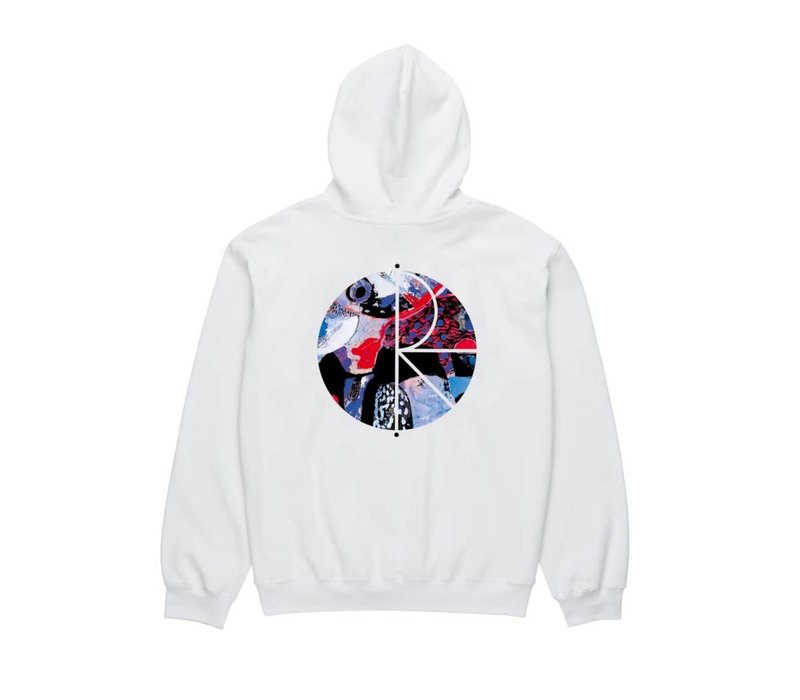 Polar Orchid Fill Hoodie White